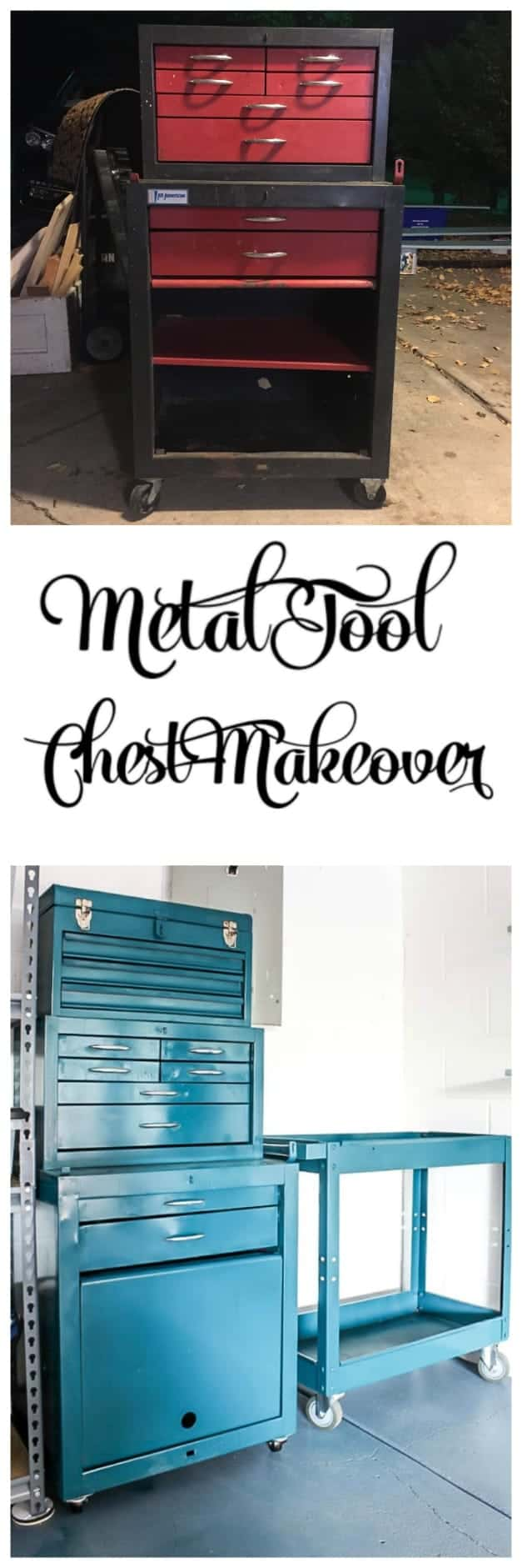 metal tool chest tool box makeover garage makeover