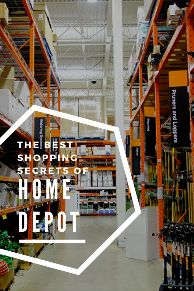 The best shopping secrets of home depot the striped house for Shop home depot