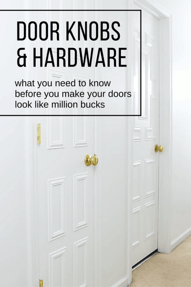 Changing out your door hardware makes such a difference! What to know beforehand so you can successfully makeover your own doors.