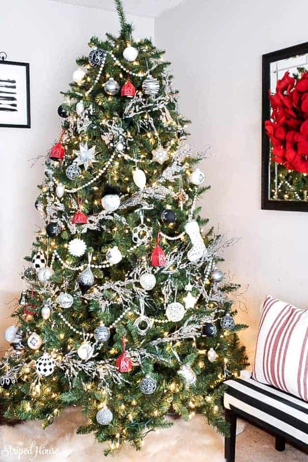 modern-traditional-black-white-red-christmas-tree-the-striped-house