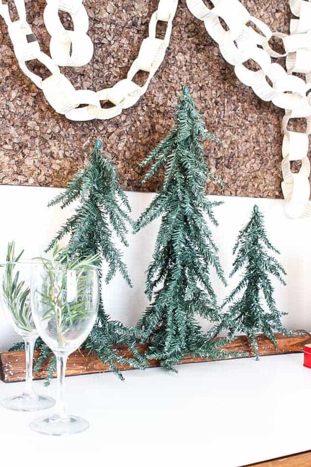 modern-traditional-scandinavian-christmas-home-mini-christmas-trees-on-credenza