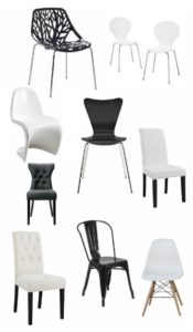 Top ten favorite black and white kitchen chairs, all under $75.