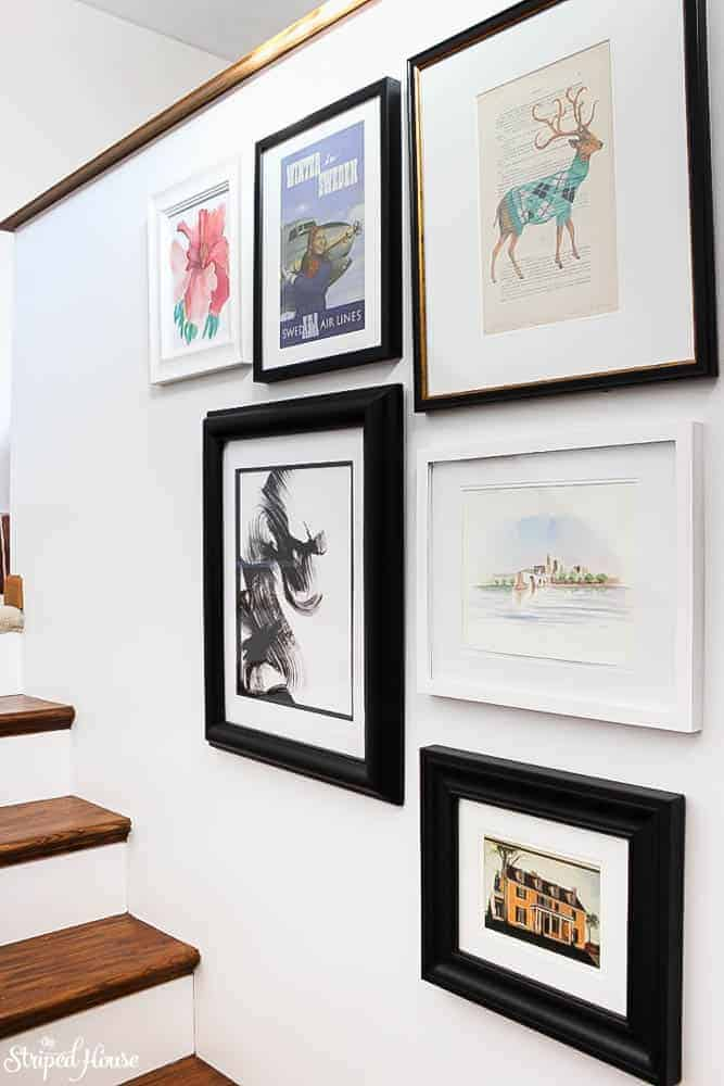 How to buy enough art to fill a gallery wall for only a couple dollars! My secret source for artwork and keeping it under budget.