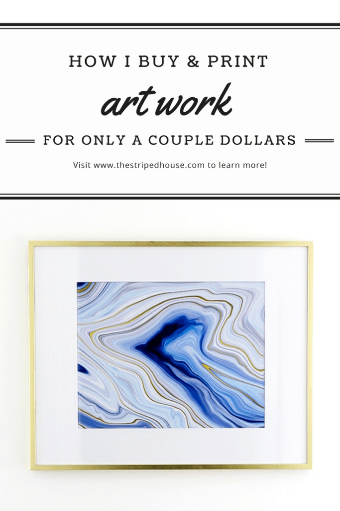 How to buy and print art to fill a gallery wall for only a couple dollars! My secret source for artwork and keeping it under budget.