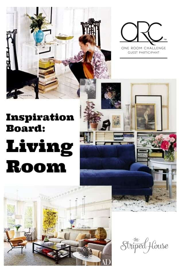 My plan and goals for my modern traditional, contemporary, midcentury modern living room makeover for the One Room Challenge spring 2017.