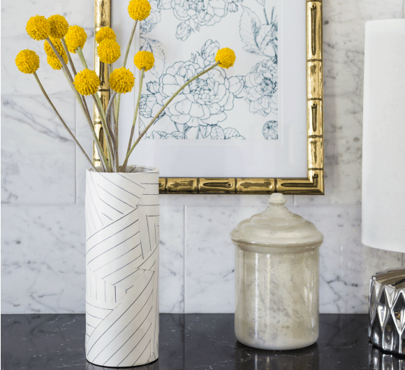 MILES REDD DECONSTRUCTED STRIPE INSPIRED VASE