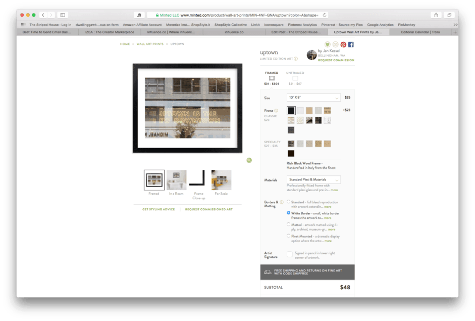 why minted is cheaper and faster than bargain hunting art