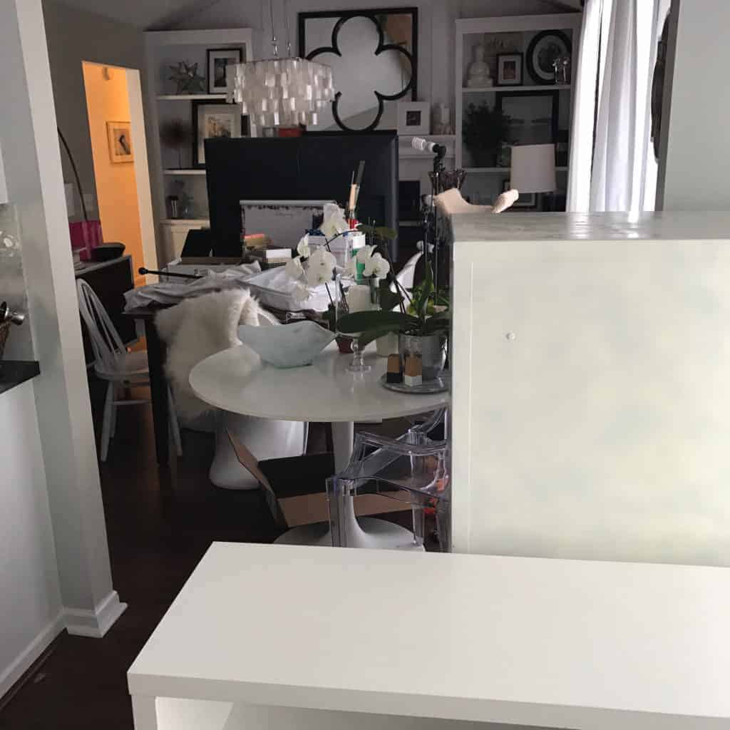 survival tips for re carpeting an entire house the striped house this is my dining room from my kitchen view my file cabinet and office bookshelf are where my kitchen table is and my table is shoved into my dining room