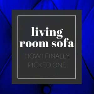 PICKING OUT A LIVING ROOM SOFA