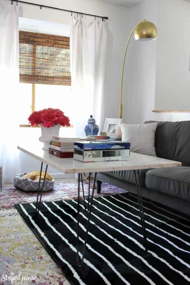 How to Get Waves out of Rugs | The Striped House