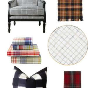 PLAID HOME DECOR FOR FALL