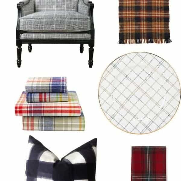 contemporary ways to incorporate plaid into your home this fall