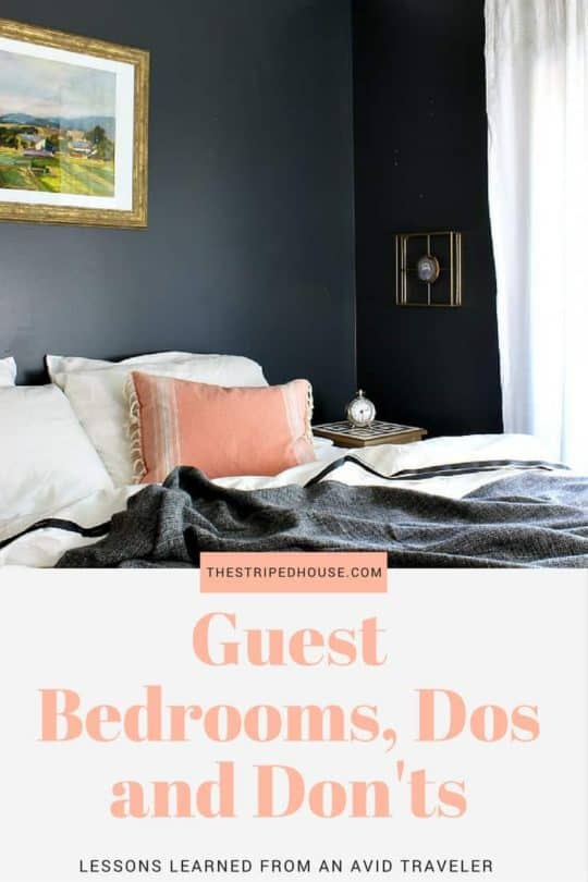 GUEST BEDROOM DOS AND DON'TS