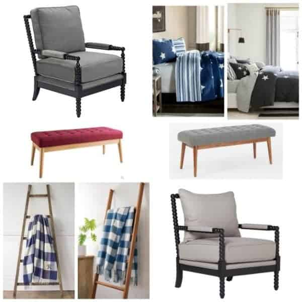 I've picked out four pairs of furniture and decor. Each pair has a higher priced item, and one much much less expensive. Can you tell which is which?