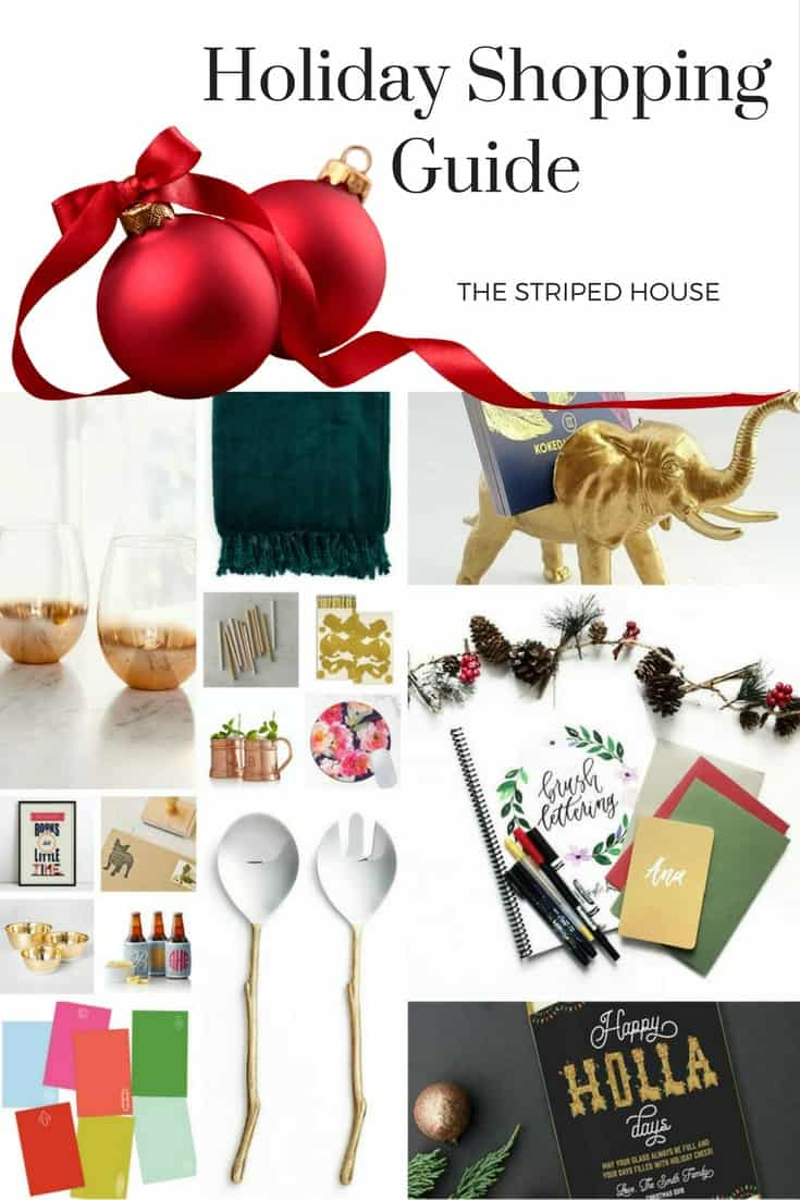 My favorite gifts to give and receive this year, ranging from $3 to $40. Happy Holidays from The Striped House!