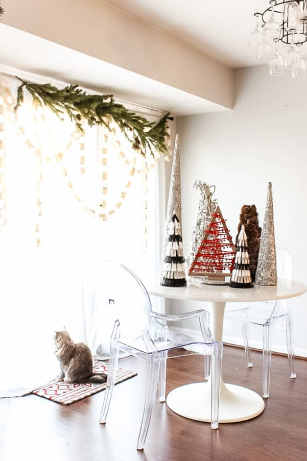 modern traditional red and white Christmas home tour-8