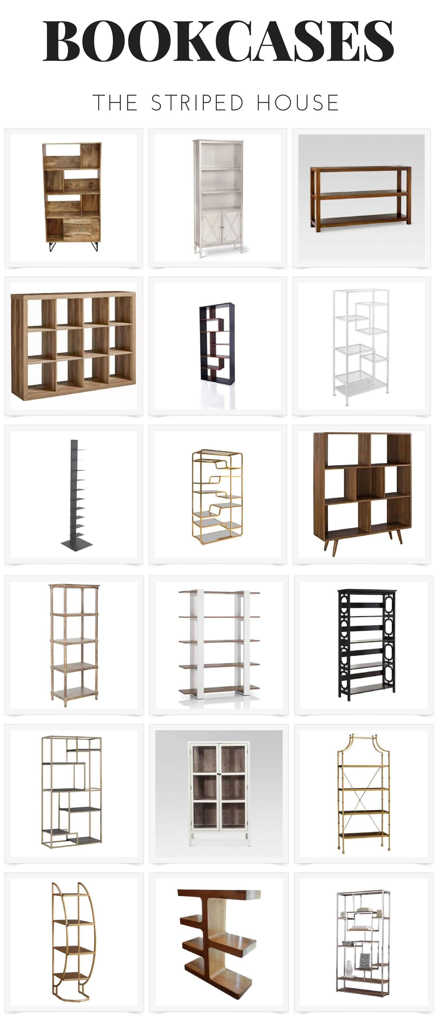 Bookcase Round Up: There is the perfect bookcase for your space.