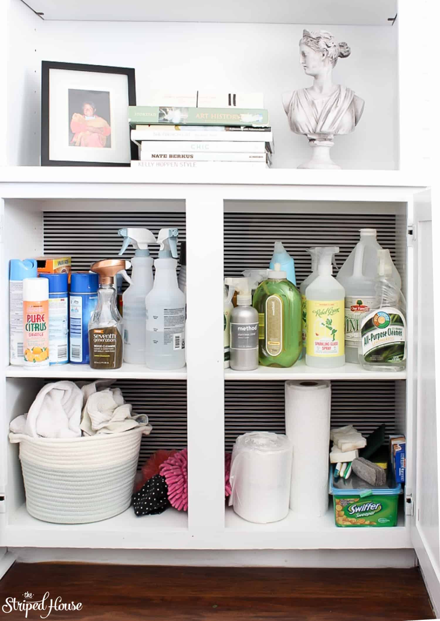 Turning A Wasted Cabinet Into Bright Organized E For Cleaning Supplies