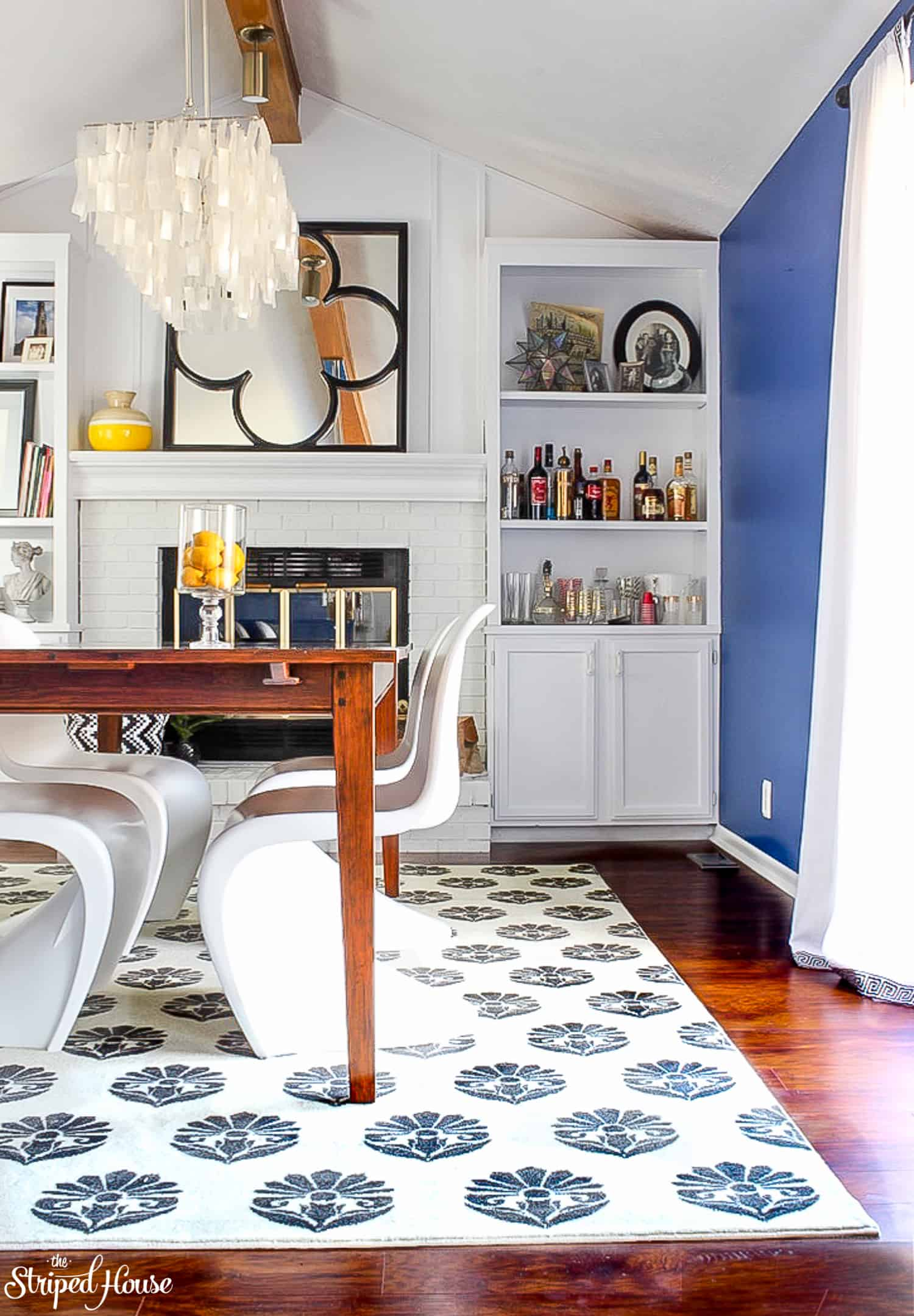 Come on it and see my dining room spring home tour with Mohawk.