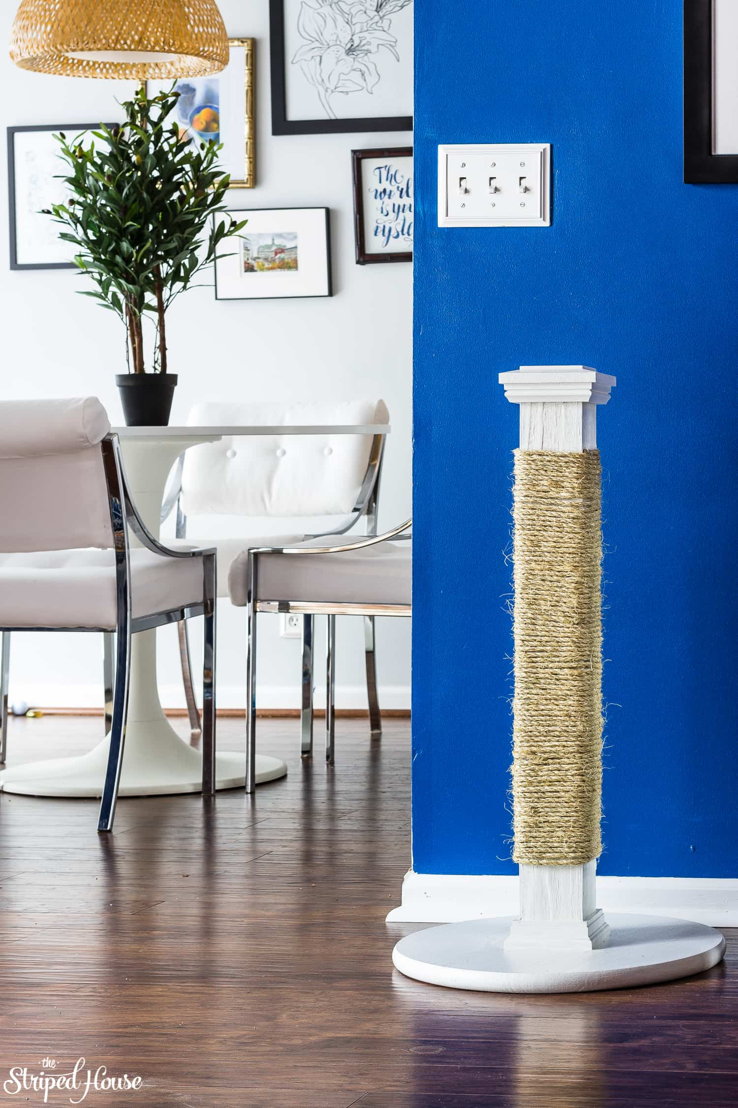handmade stylish and durable cat scratching post