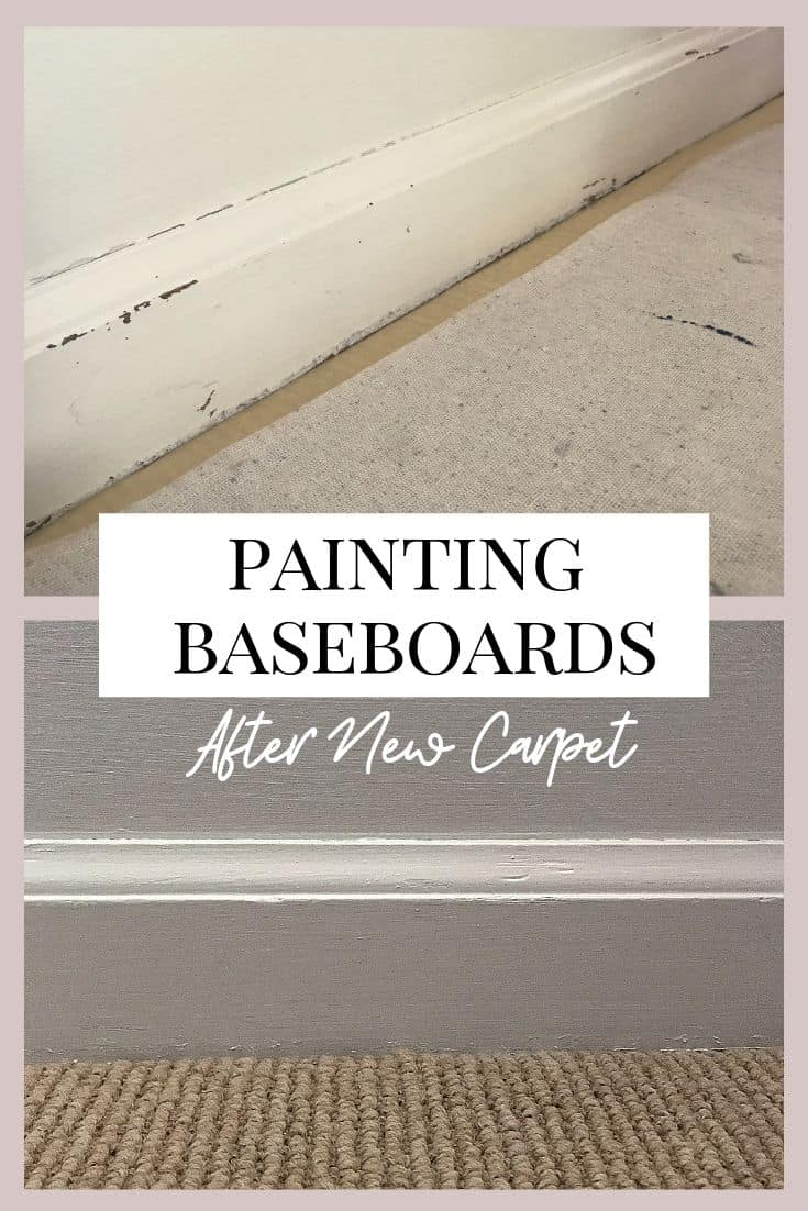 Easy trick to paint baseboards when you don't want to ruin your carpet.  #homedecor #painting #diy #interiordesign #flooring